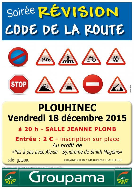 Plouhinec soiree code de la route 2015